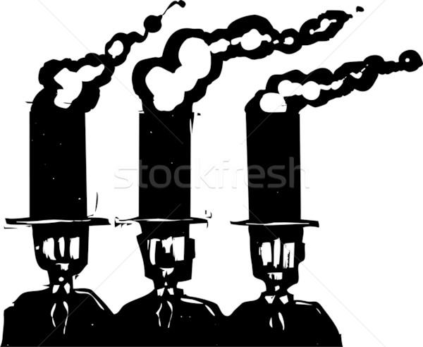 бизнеса стиль экспрессионист изображение три деловых людей Сток-фото © xochicalco