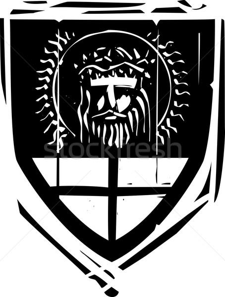 Schild christ stijl jesus achtergrond frame Stockfoto © xochicalco