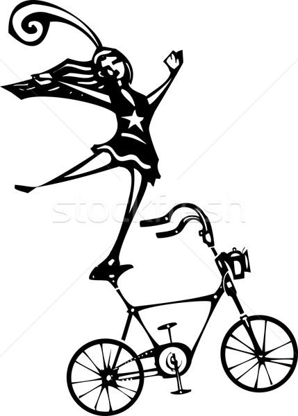 цирка велосипед стиль изображение сбалансированный Сток-фото © xochicalco