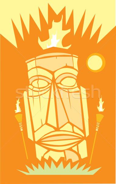 Flame TIki Stock photo © xochicalco