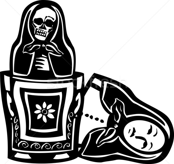 Russian Doll Death Inside Stock photo © xochicalco