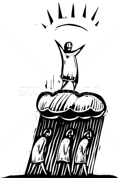 人 幸せ 雲 うつ病 作業 ストックフォト © xochicalco