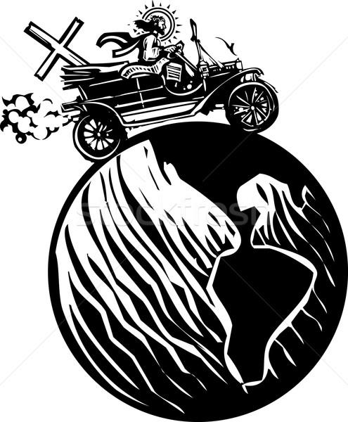 глобальный автомобиль Христа стиль изображение Иисус Сток-фото © xochicalco