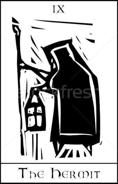 Tarot kart stil görüntü Stok fotoğraf © xochicalco