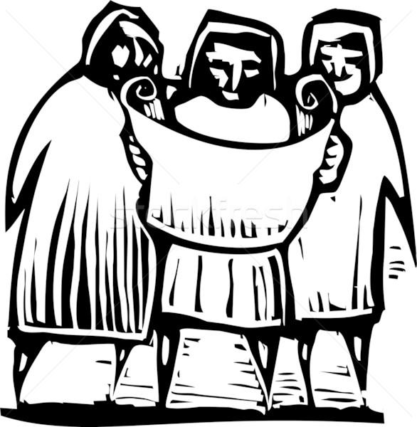 人 地図 スタイル 表現派の 画像 3人 ストックフォト © xochicalco