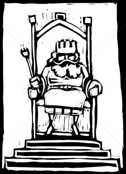 Rey trono pequeño castillo fantasía Foto stock © xochicalco