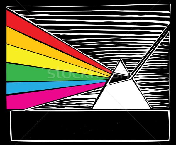 Prisma luce natura scienza Rainbow colori Foto d'archivio © xochicalco