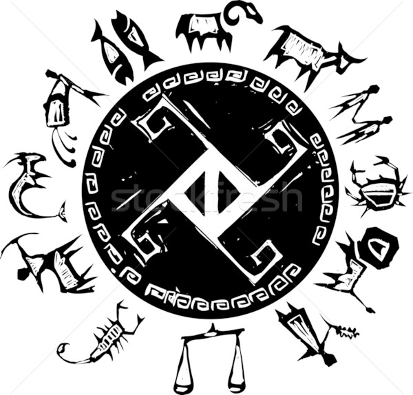 Western Primitive Zodiac B Stock photo © xochicalco