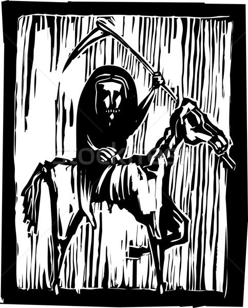 голод Апокалипсис верховая езда скелет лошади Сток-фото © xochicalco