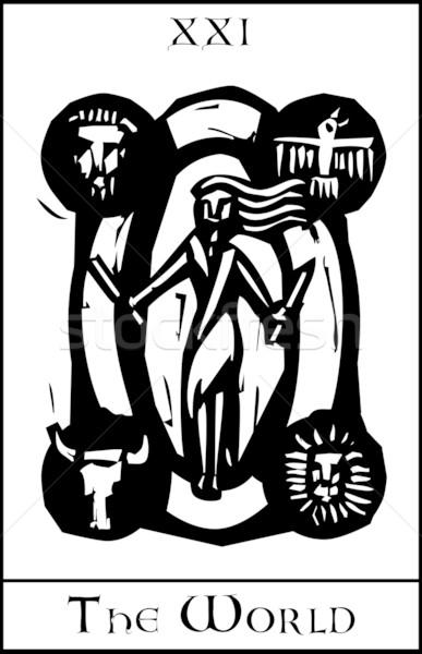 świat tarot karty ekspresjonista stylu obraz Zdjęcia stock © xochicalco
