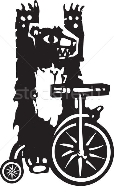 Sirk ayı stil görüntü üç tekerlekli bisiklet eğlence Stok fotoğraf © xochicalco