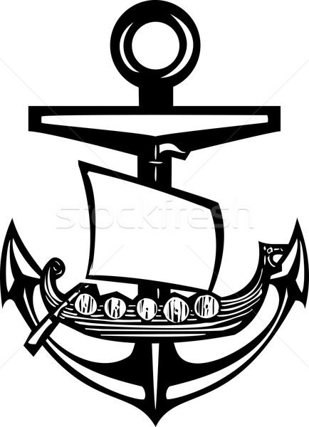 Viking Anchor Stock photo © xochicalco