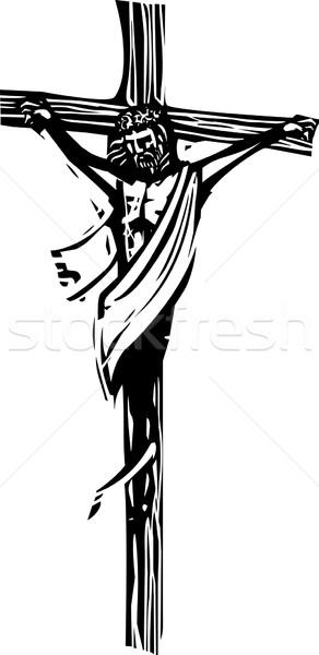 Gesù Cristo stile espressionista immagine cross Foto d'archivio © xochicalco