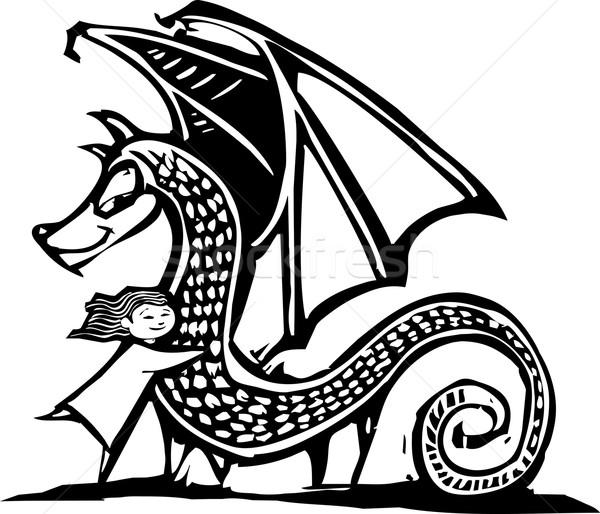 Huggy Dragon Stock photo © xochicalco