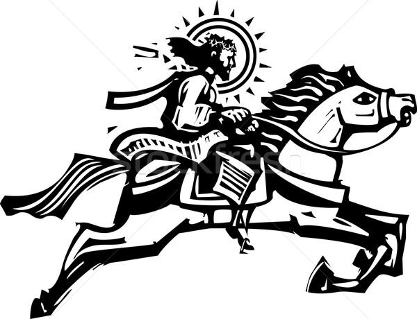 Christ springen paard stijl afbeelding jesus Stockfoto © xochicalco