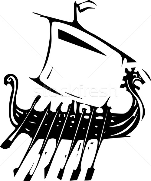 Expressionistic Viking Ship Stock photo © xochicalco