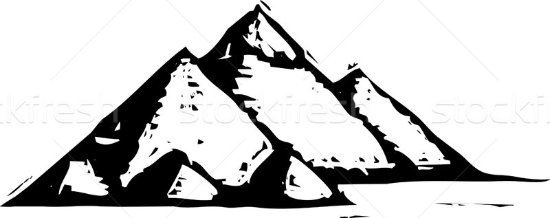 Woodcut Style Egyptian Pyramids  Stock photo © xochicalco