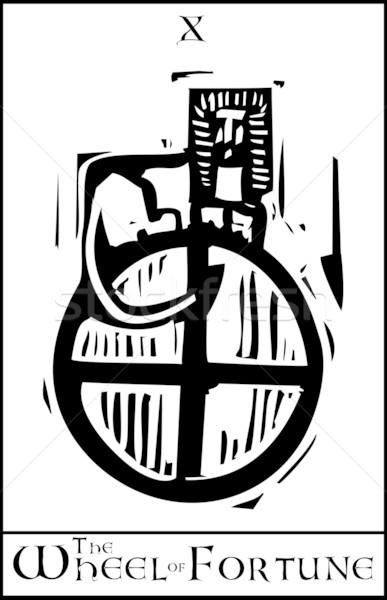 Таро карт колесо экспрессионист стиль изображение Сток-фото © xochicalco