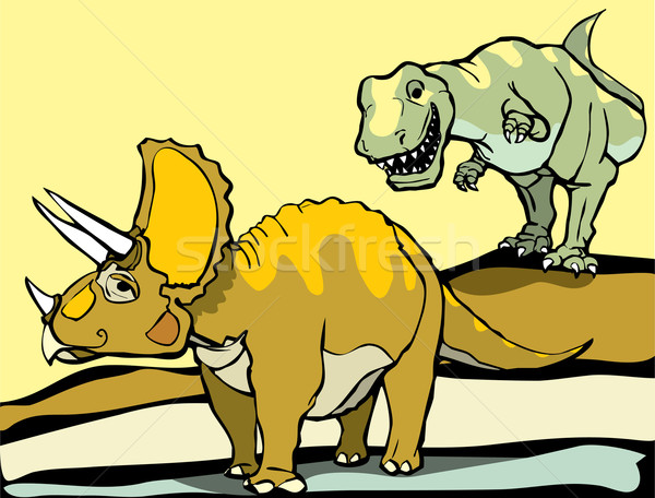 Hunting the Triceratops Stock photo © xochicalco