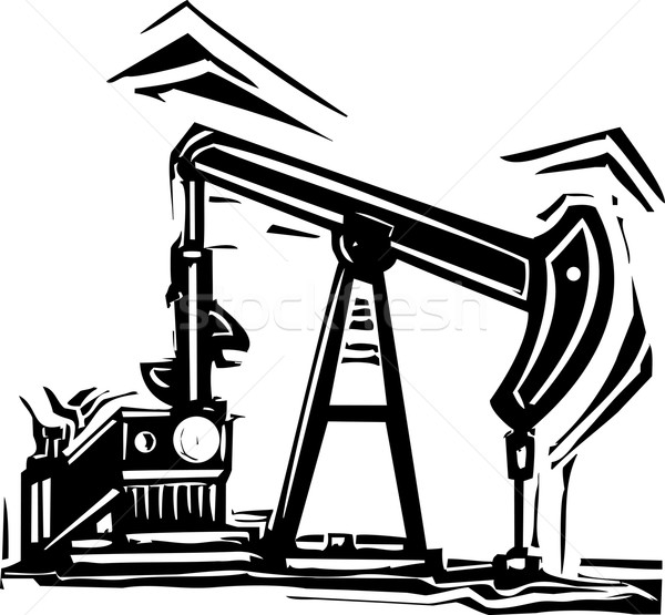 Oil Pumpjack Stock photo © xochicalco