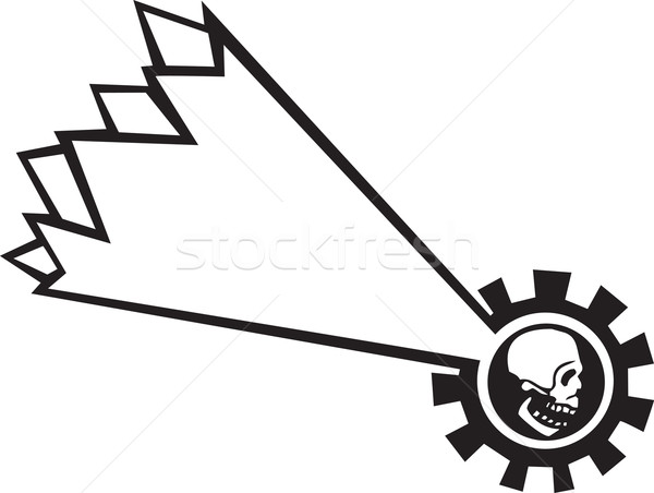 падающая звезда череп падение звездой человека Сток-фото © xochicalco