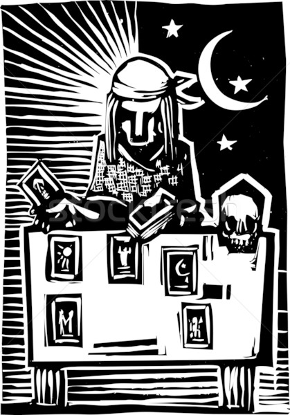Tarot kart okuma stil görüntü Yıldız Stok fotoğraf © xochicalco