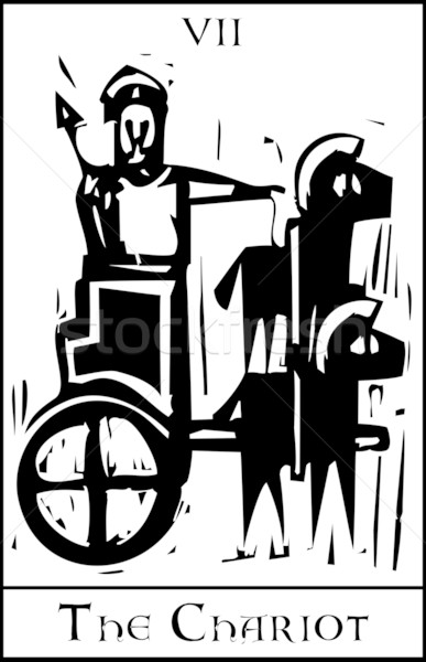Rydwan tarot karty ekspresjonista stylu obraz Zdjęcia stock © xochicalco