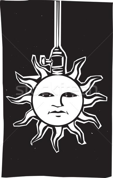 Sol lâmpada imagem cara enforcamento elétrico Foto stock © xochicalco