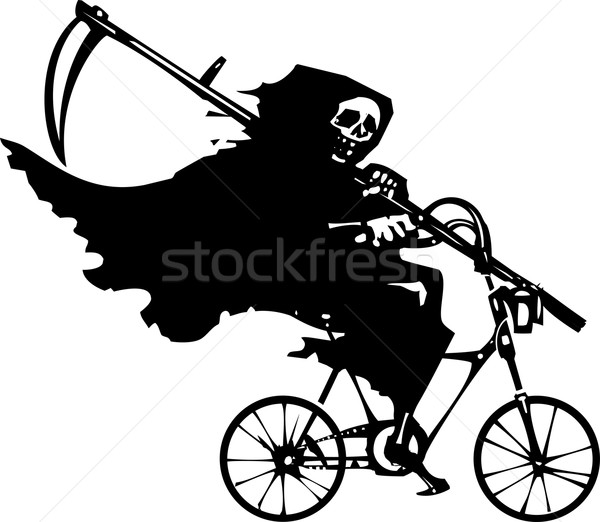 Grim Reaper on a Bicycle Stock photo © xochicalco