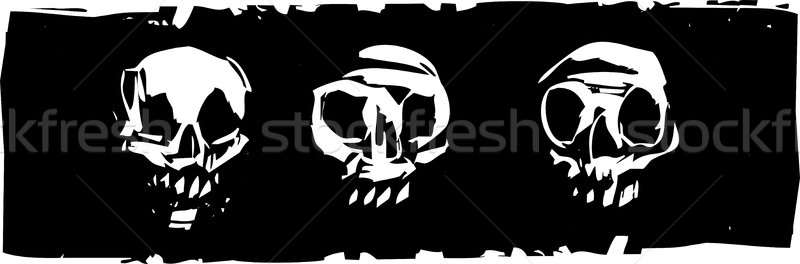 Three Human Skulls Stock photo © xochicalco