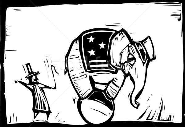 Circus Elephant Stock photo © xochicalco