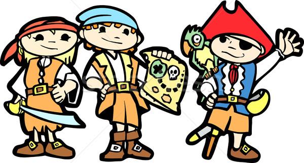 Children in Pirate Costumes Stock photo © xochicalco