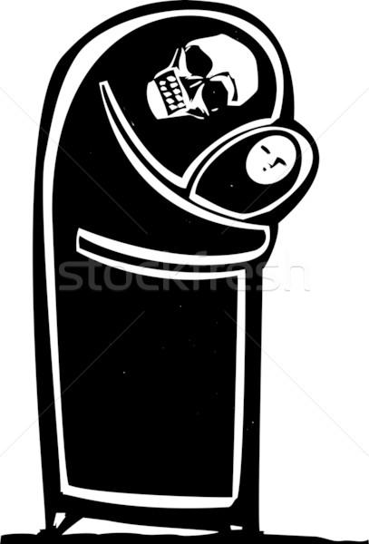 śmierci dziecko obraz czaszki Zdjęcia stock © xochicalco