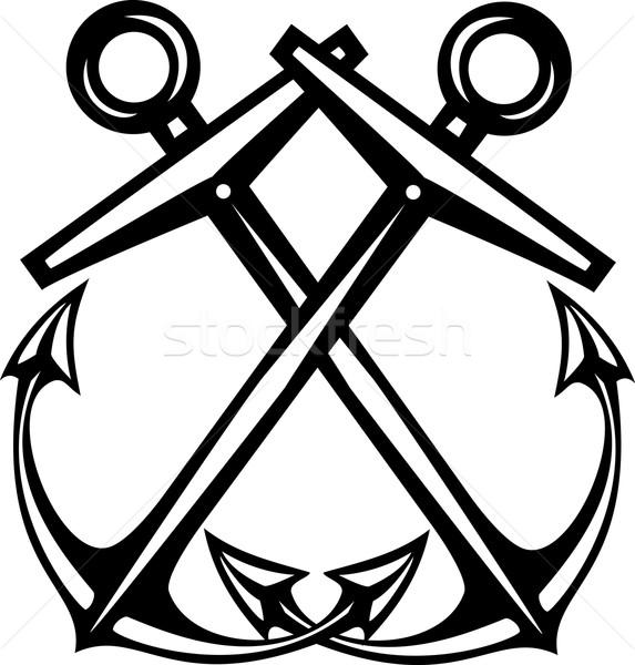 Crossed Anchors Stock photo © xochicalco