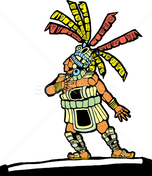 Mayan Ballplayer 2 Stock photo © xochicalco