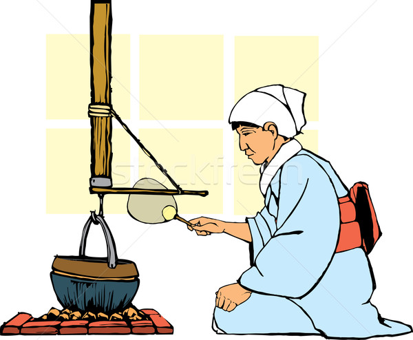 Traditional Japanese Hearth Stock photo © xochicalco