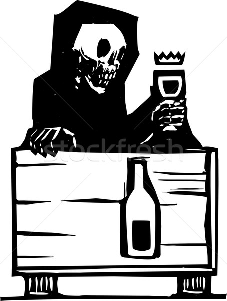 Death and Wine Stock photo © xochicalco