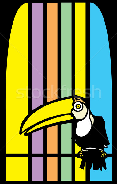 Toucans and Stripes Stock photo © xochicalco