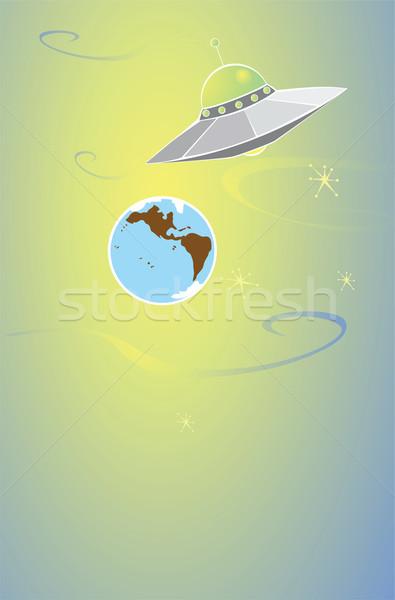 外国 地球 レトロな 飛行 ソーサー 旅行 ストックフォト © xochicalco