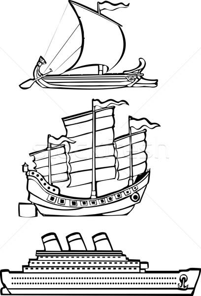 three nautical ships Stock photo © xochicalco