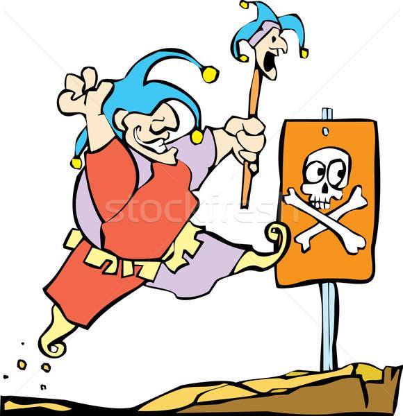 Palerma quadro negócio saltar engraçado jogo Foto stock © xochicalco