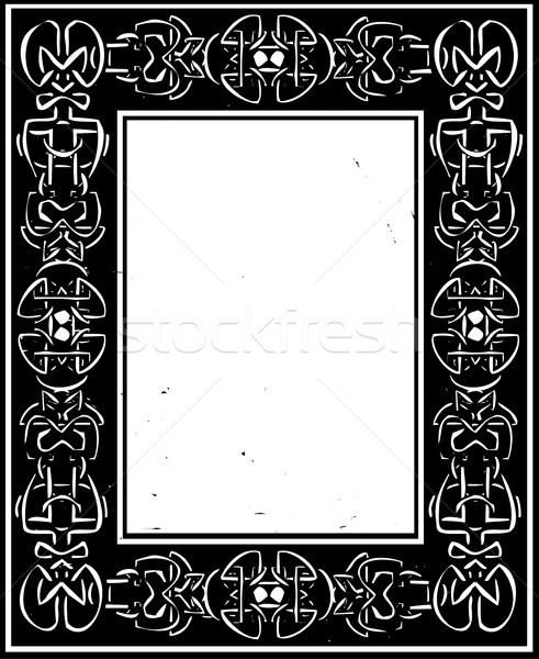 Celtic grens stijl frame cultuur Stockfoto © xochicalco