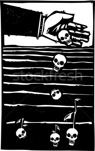 Nasion śmierci stylu ekspresjonista obraz strony Zdjęcia stock © xochicalco