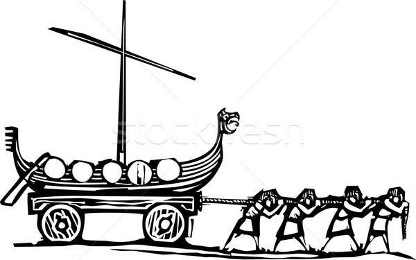 Viking stile espressionista immagine nave Foto d'archivio © xochicalco