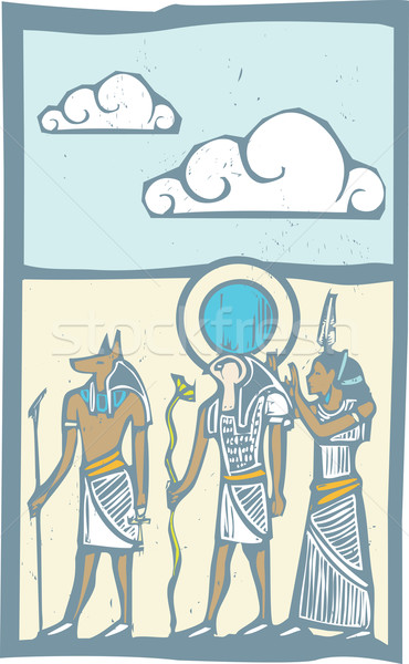 Hieroglyph Clouds Stock photo © xochicalco