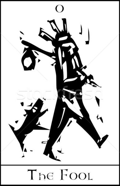 Tarot karty ekspresjonista stylu obraz Zdjęcia stock © xochicalco