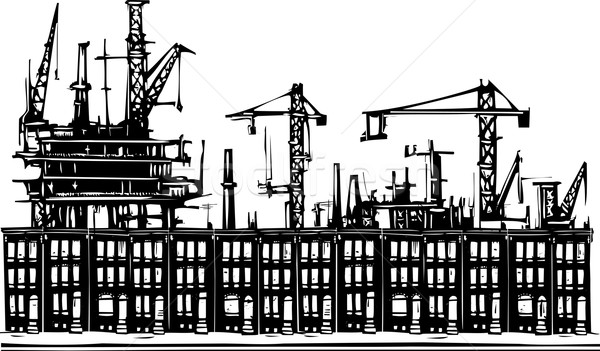 Industrielle ville style image urbaine ghetto Photo stock © xochicalco
