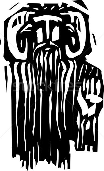 Panela estilo expressionista imagem mítico grego Foto stock © xochicalco
