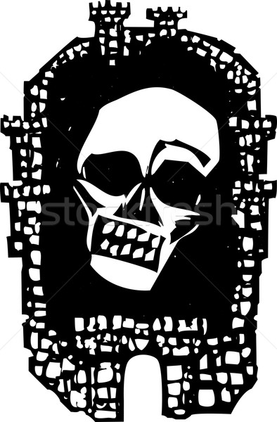 Woodcut Plague City Stock photo © xochicalco