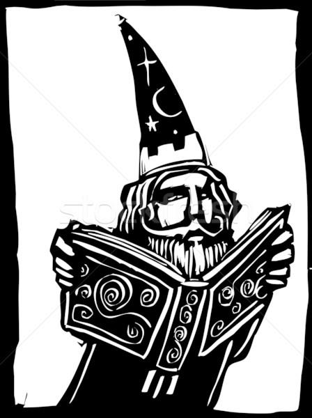 Livre chapeau étude magie Photo stock © xochicalco